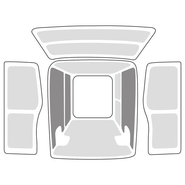 Innenverkleidung Set, Vollverkleidung, Ford Transit Custom L1H2 / FWD / RD